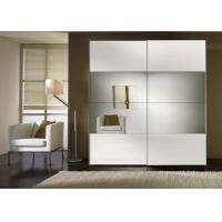 Durable High Gloss Bedroom Furniture With MDF Mirror Sliding Door Wardrobe