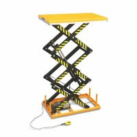 Buy cheap 1.5 Ton Electric Scissor Lift Anti Slip Steel Plate Platform With Safety Interlock from wholesalers