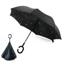 Buy cheap New Design Factory Price Star Pattern Inside Print Upside-Down Reverse Umbrella from wholesalers