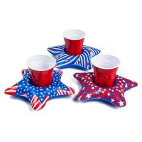 Buy cheap PVC Patriotic Star Cupholder Floats Inflatable Drink Holder Red / White / Blue from wholesalers