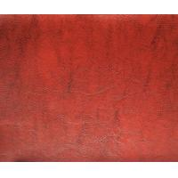 Buy cheap R64 Texture Printing Furniture Polyurethane Red Leatherette Fabric , REACH from wholesalers