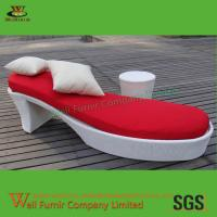Buy cheap All-Weather Wicker Chaise Lounge Manufacturer in China Supply Rattan Sun Lounger WF-0835 from wholesalers