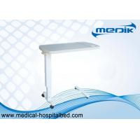 Buy cheap Movable Plastic Medical Overbed Table With Height Ajustable For Hospital Patient Use from wholesalers