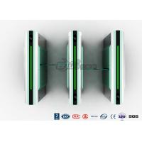 Buy cheap Security Sliding Waist High Turnstile Intelligent Electric Entrance Gates Flap Barrier from wholesalers