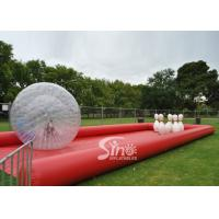Buy cheap New design giant inflatable human bowling ball game with big zorb ball and race track from wholesalers