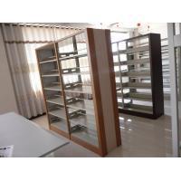 Buy cheap bookshelves designs wooden   ,library magazine rack,library bookshelves from wholesalers