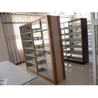 Buy cheap double face bookcases , book shelf cabinet ,library magazine rack,double sided book shelf from wholesalers