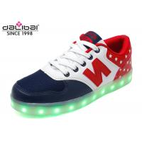 Buy cheap Size 38 Custom LED Casual Shoes Light Up Flashing Sneakers Flat Heel For Men from wholesalers