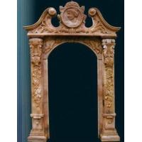 Buy cheap Door Decorative Trim Moulding , Honed Yellow Sandstone Roman Frame from wholesalers