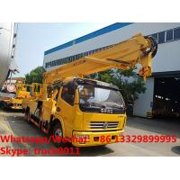 Buy cheap 2018s new 16m 4*2 LHD diesel aerial working platform truck for Mali, High quality and best price hydraulic bucket truck from wholesalers