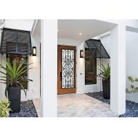 China prevent freezing  Tempered Wrought Iron Door Glass Silk Screening great security feature  Privacy Features on sale
