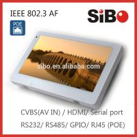 Buy cheap 7 Wall Flush Mounted Android Touch Panel With Ethernet POE from wholesalers