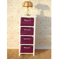 Buy cheap Purple Basket Sideboard White Wood Woven Cabinet Drawer Tool Storage from wholesalers