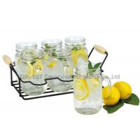 Buy cheap 7 pieces 16oz drinking glass caddy with metal stand For parties , resturants product