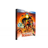 Buy cheap Incredibles 2 Blu-ray DVD Disney Movie Cartoon Comedy Adventure Series Animation Blyu-ray DVD from wholesalers
