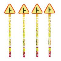 Buy cheap wooden round cute pencils with lovely pattern erasers set for promotional from wholesalers