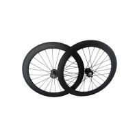Buy cheap 700C Track Carbon Disc Wheel T700 , 23mm Width Fixed Gear Bike Wheels Tubular Clincher from wholesalers