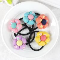 Buy cheap Baby accessories children Girls jewelry Rabbit pumpkin flower baby headwear hair ring hair rope elastic hair band from wholesalers