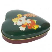 Buy cheap Mini Heart Shape Chocolate Tin Box , Sweet Candy Container Box With Lid from wholesalers