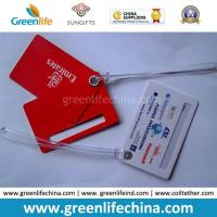 Buy cheap Advertising Top Quality Red Logo Printed Custom Plastic Luggage Tag from wholesalers