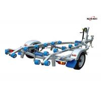 Buy cheap 4.3m X 1.5m Rubber Roller Small Boat Trailer , Hydraulic Galvanised Boat Trailer from wholesalers
