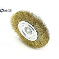 Buy cheap T Shape Crimped Wire Wheel Brush Polishing Tool Brass End Metal Polishing Circular from wholesalers