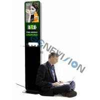 China Indoor Moble Phone Charging Station Digital Signage Totem 21.5 inch lcd advertising player cell phone charging kiosk on sale