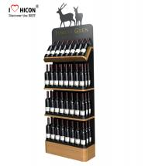 Buy cheap Freestanding Custom Wooden Wine Display Rack For Liquor Store Advertising from wholesalers