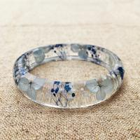 Buy cheap Elegant Mixed Dry Flower Resin Bangle Bracelet Beautiful Epoxy Resin Jewelry product