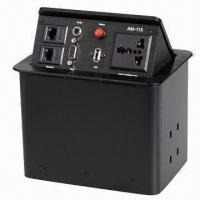Buy cheap High Grade Hidden Desktop Socket with Wiredrawn Black and Wiredrawn Silver from wholesalers