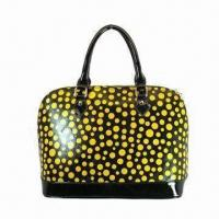 Buy cheap Newest Fashionable Lady Leather Handbags, Orange Type Bags from wholesalers