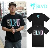 Buy cheap Wholesale Newly Men's BLVD active top designer round collar short sleeve hip-hop T-shirt from wholesalers