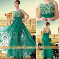 Buy cheap transparent wear embroidery tulle green formal prom dresses 2014 long 30650 from wholesalers