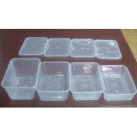 Quality Injection Rectangular Disposable Plastic Food Containers , PP Food Trays for sale