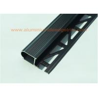 Buy cheap Long Lifespan Anodized Black Metal Stair Nosing For Tile With Curved Edge from wholesalers