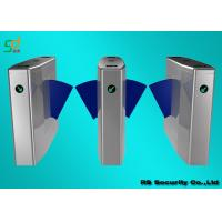 Buy cheap RFID Flap Barrier Gate Turnstiles, Automatic Access Control Turnstile Optical from wholesalers