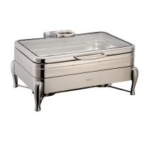 Buy cheap YUFEH Stainless Steel 304# Hydraulic Induction Chafing Dish W/ Glass Lid Buffet Serving Dish Warmer from wholesalers