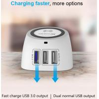 Buy cheap Fully Compatible Phone Charging Dock 3USB Ports With Detachable Charging Line from wholesalers