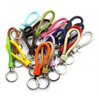 Buy cheap wholesale braided leather keychains 19 colors Cheap from China from wholesalers