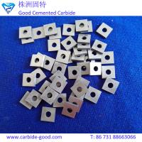 Buy cheap Center hole square cemented carbide inserts uncoated carbide inserts for scissors sharpener from wholesalers