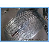Buy cheap BTO22 Type High Tensile Barbed Wire , Welded Barbed Concertina Wire 75*150mm from wholesalers