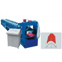 China Galvanized Roof Ridge Cap Roll Forming Machine With Hydraulic Pressing Machine on sale
