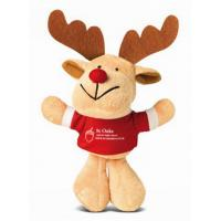 China Fashion Small Reindeer Stuffed Plush Toy Keychain For Christmas Promotion on sale