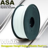 Buy cheap White ASA Filament / Anti Ultraviolet 1.75mm Filament For 3D Printer from wholesalers