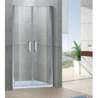 Buy cheap Sand Silver Saloon Pivot Shower Doors 6MM Tempered Glass With Aluminum Frame from wholesalers