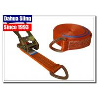 Buy cheap D Ring Polyester Webbing Ratchet Tie Down Straps Load Binder Double J Hook from wholesalers