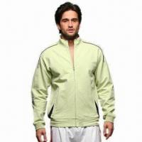 Buy cheap Men's Sports Jacket with Piping and Embroidery from wholesalers