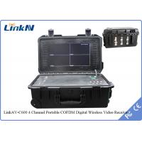 Buy cheap 4 Channel IP65 Suitcase QPSK Digital COFDM Video Receiver With 20 Hours Battery from wholesalers