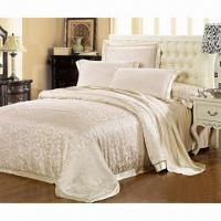 Buy cheap Silk Fitted Sheet/Bedding Set, Breathable, Warm in Winter and Cold in Summer from wholesalers