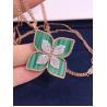 Buy cheap Roberto Coin 18K VENETIAN PRINCESS MEDIUM FLOWER MALACHITE & DIAMOND NECKLACE from wholesalers